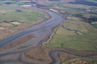 Howlands Marsh from the air