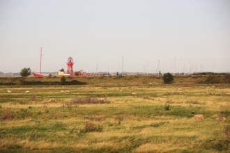 Tollesbury Wick with lightship