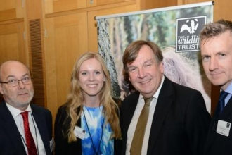 Stewart Goshawk Chair, Emily McParland Communications Officer, John Whittingdale MP for Maldon, Andrew Impey CEO