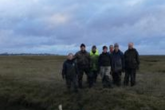 Volunteers for saltmarsh restoration project