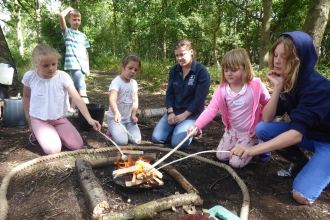 Forest School Over 8's at Abbotts Hall Farm