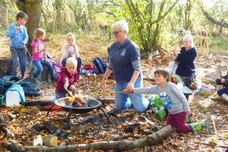 Forest School Over 5's at Abbotts Hall Farm