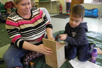 Langdon bird box making