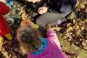 Nature Tots in woodland