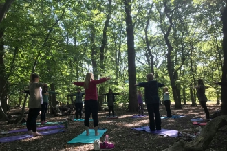 Pilates in the Woods