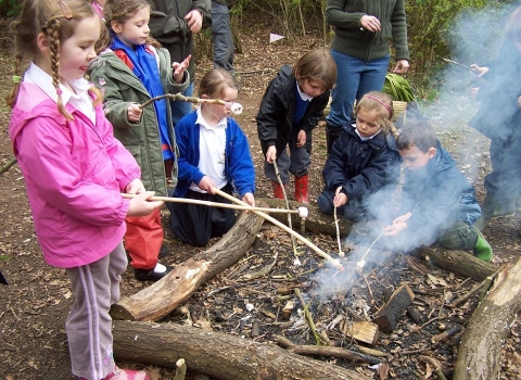 Children Campfire Cooking Fingringhoe